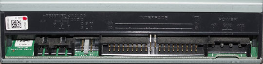 DVD rear connectors
