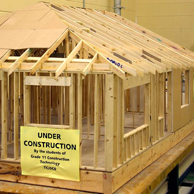 Model house construction