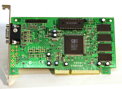 SiS AGP video card